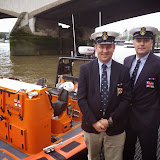 Dave Riley and Glen Mallen on the pontoon at Tower Lifeboat Station - 14 October 2014