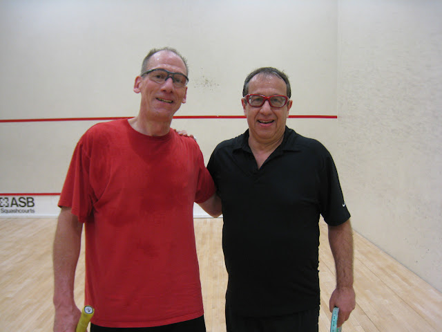 Ken Weber, winner, and Yves Schabes, finalist, of the Men's 50+ Consolation flight.