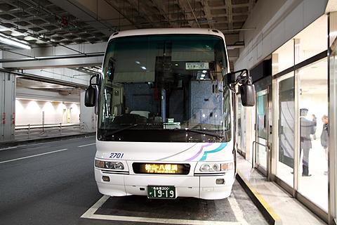 名鉄バス「名古屋~松山線」 2701 名鉄バスセンター改札中 その2