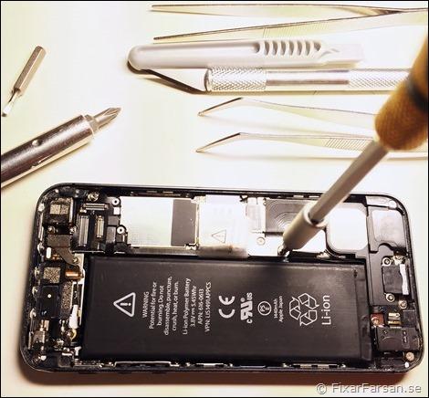 byta batteri iphone 5s själv