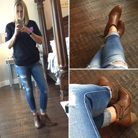 a6accae99d6a Women s dv Jameson Double Side Zip Booties (I sized up a half size)