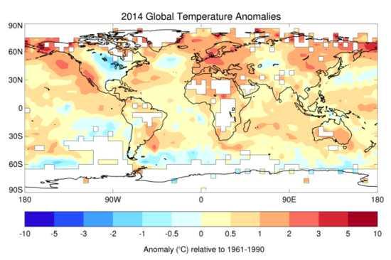 2014 el año más cálido de la historia reciente también para la OMM