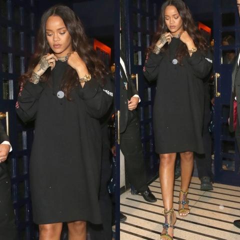 Rihanna wore Rick Owens, Lizz Jardim and Jennifer Fisher in Sledgehammer