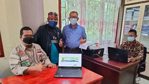 Wali Nagari Koto Tinggi Kuranji Hilir Dikunjungi PNP, Gelar Sosialisasi Pengelolaan Website Nagari