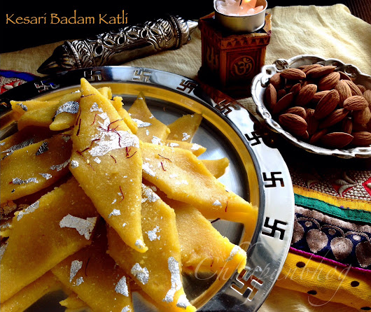 Kesari Badam Katli/Saffron Infused Almond Fudge