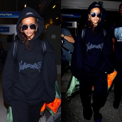 Rihanna in Vetements and PUMA