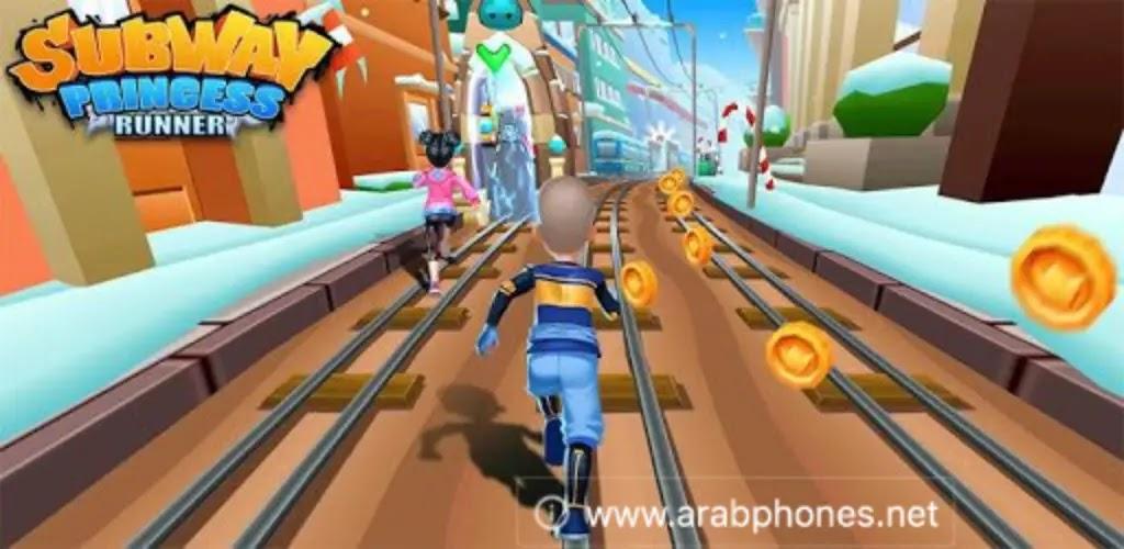 تحميل لعبة Subway Princess Runner مهكرة من ميديا فاير