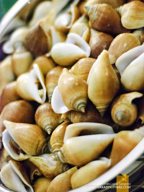 Shellfish at Sorsogon's Siama Hotel