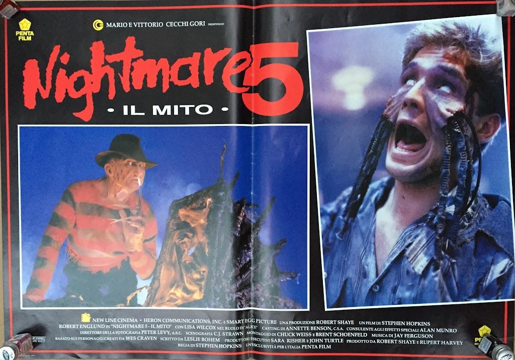 Italian Lobby card Nightmare 5 3 of 4  26x19 #1