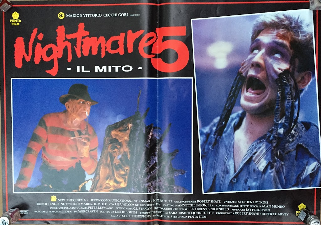Italian Lobby card Nightmare 5 3 of 4  26x19 #1