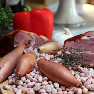 Freezer Surprise – Fresh Borlotti Beans with Cured Pork