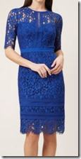 Hobbs Royal Blue Lace Dress