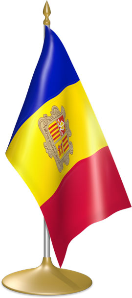 Andorran table flags - desk flags