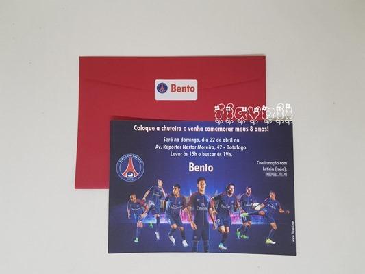 flavoli Papelaria Personalizada  Convite Paris Saint-Germain (PSG) d9b81d83104db