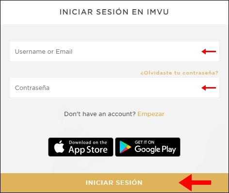 Abrir mi cuenta Imvu - 825