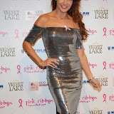 WWW.ENTSIMAGES.COM -    Lizzie Cundy   at      Filippo iOco's PINK London 2014 at Gilgamesh, The Stables Market, LondonSwiss body painter iOco throws official London launch party for Breast Cancer Awareness Month. The night is sponsored by Kryolan, and featues a fine art and body painting showcase, with all proceeds going to the Pink Ribbon Foundation.                                                Photo Mobis Photos/OIC 0203 174 1069