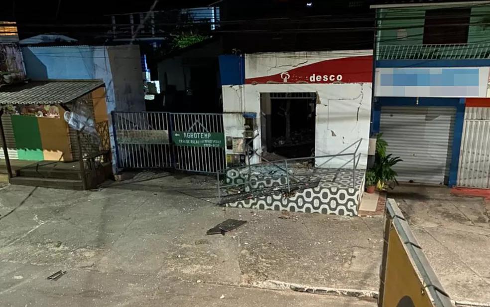 BAHIA: POSTO BANCÁRIO É ATACADO COM EXPLOSIVOS NO DISTRITO DE BARRA DE POJUCA