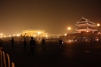 Photo: Day 189 -  Mao Zedong Memorial Hall & Zhengyang Gate  in Tiananmen Square (Note Pollution)