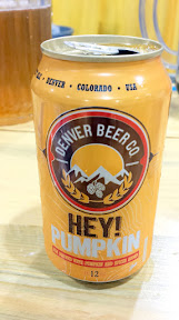 Denver Beer Co Hey Pumpkin, an ale brewed with pumpkin and spices