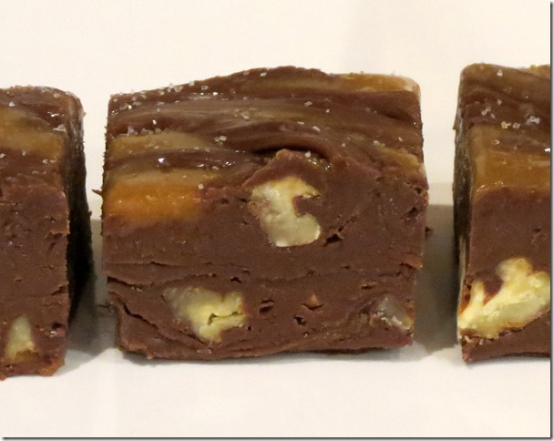 Salted Caramel Pecan Turtles Fudge 3