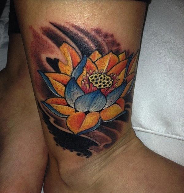 multi-colorido_de_flor_de_ltus_da_tatuagem