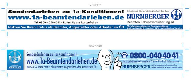 Anzeigengestaltung Vergleich 1a-Beamtendarlehen.de März 2011