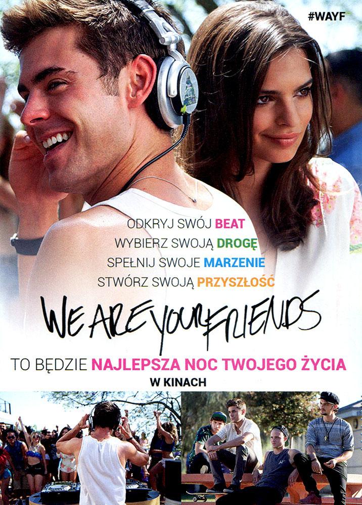 Ulotka filmu 'We Are Your Friends (tył - wersja B)'