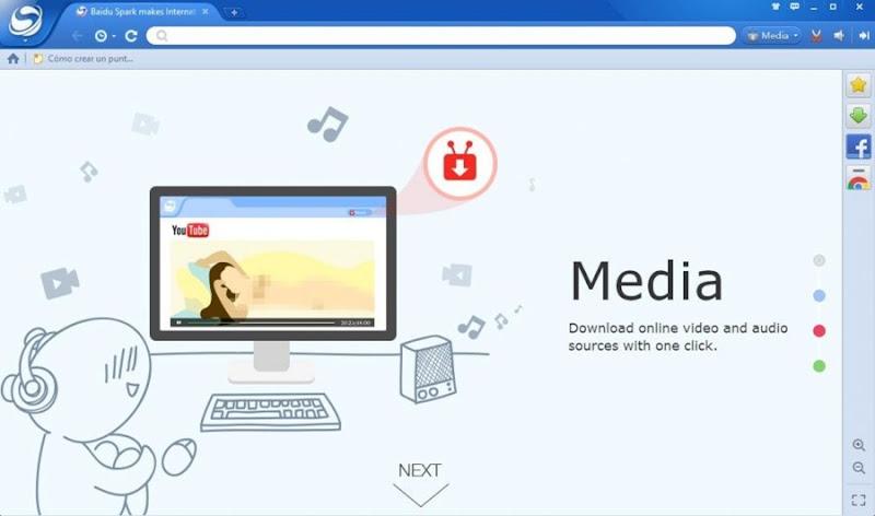 تحميل متصفح بايدو Baidu Spark Browser 43.23.1000.467