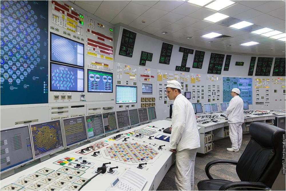 Блочный щит управления Курской АЭС