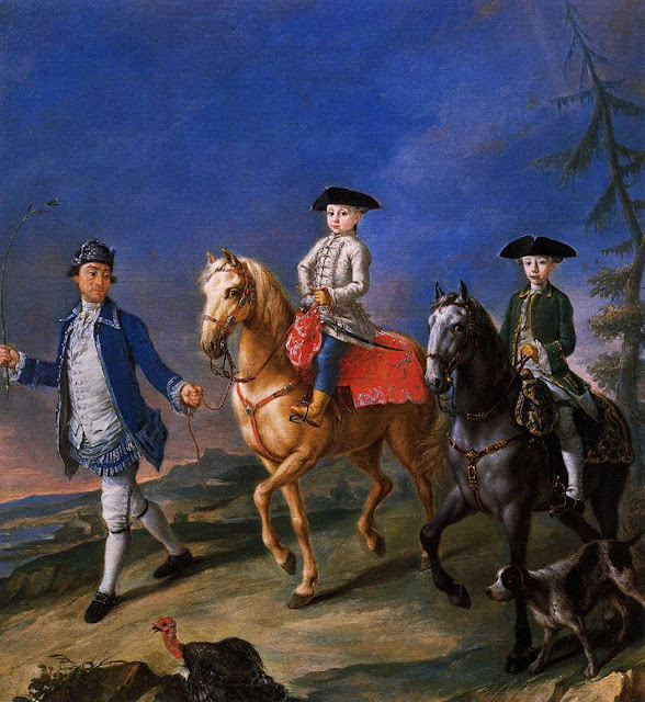 Pietro Longhi - Promenade on Horseback