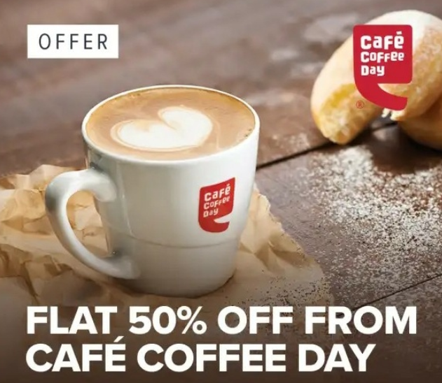 Swiggy CCD Offer - 50% off on Cafe Coffee Day orders