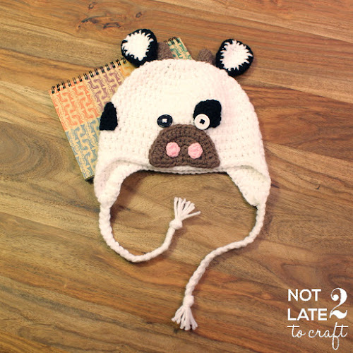 Not 2 late to craft: Barret de vaca de ganxet / Crochet cow hat
