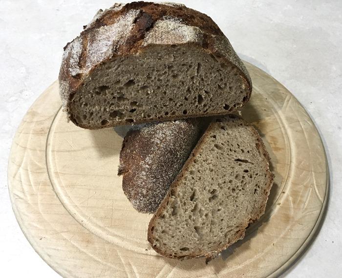 30 First Really Good Sourdough Loaf Cut 12-8-18