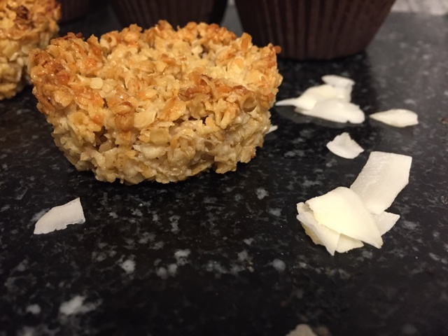 individual coconut flapjack