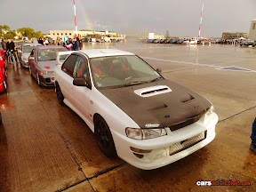 Classic Impreza with carbon hood