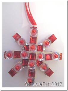jewelled parcel tag charm a