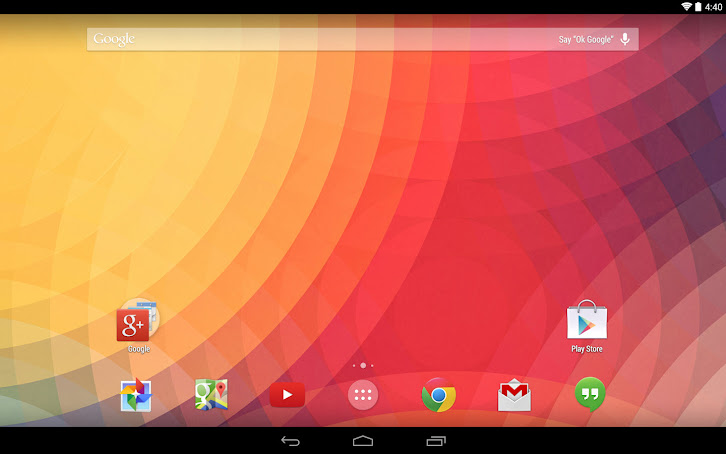 Google Now Launcher KitKat for tablet/Android 4.1 up