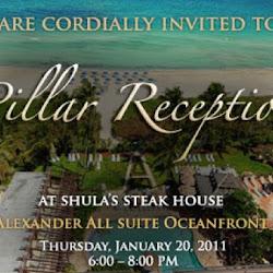 Pillar Reception at the Alexander Hotel