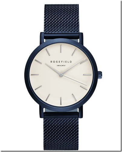 Rosefield Watch - The Mercer New Blue