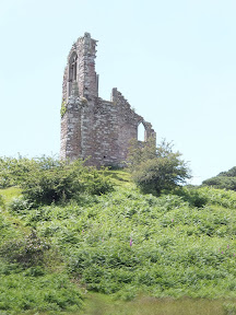 Mount Edgcumbe Park Folly - this artificial ruin built in 1747 was built from stone from the churches of St. George and St. Lawrence in Stonehouse