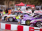 Drift Cars all lined up in front of the audience in Malta 2012.