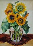 słoneczniki, olej, płótno, 60 x 80 cm