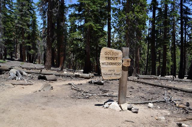 Golden Trout Wilderness sign