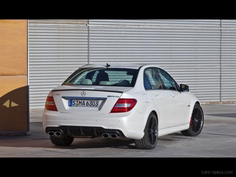 white 2012 Mercedes-Benz C63 AMG