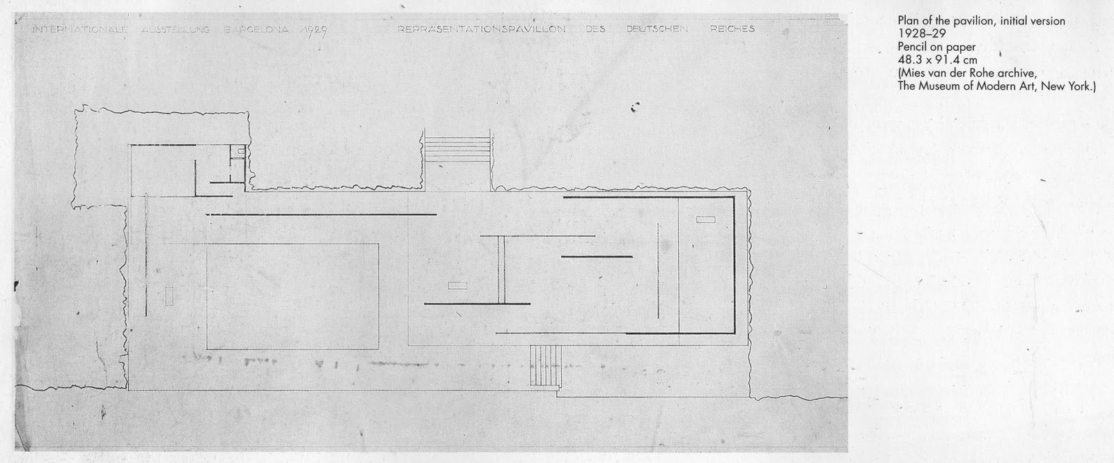 Barcelona pavilion plan - Images Are From The Book Mies Van Der Rohe Barcelona Pavilion