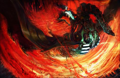 Dark Knight On Dragon, Dragons