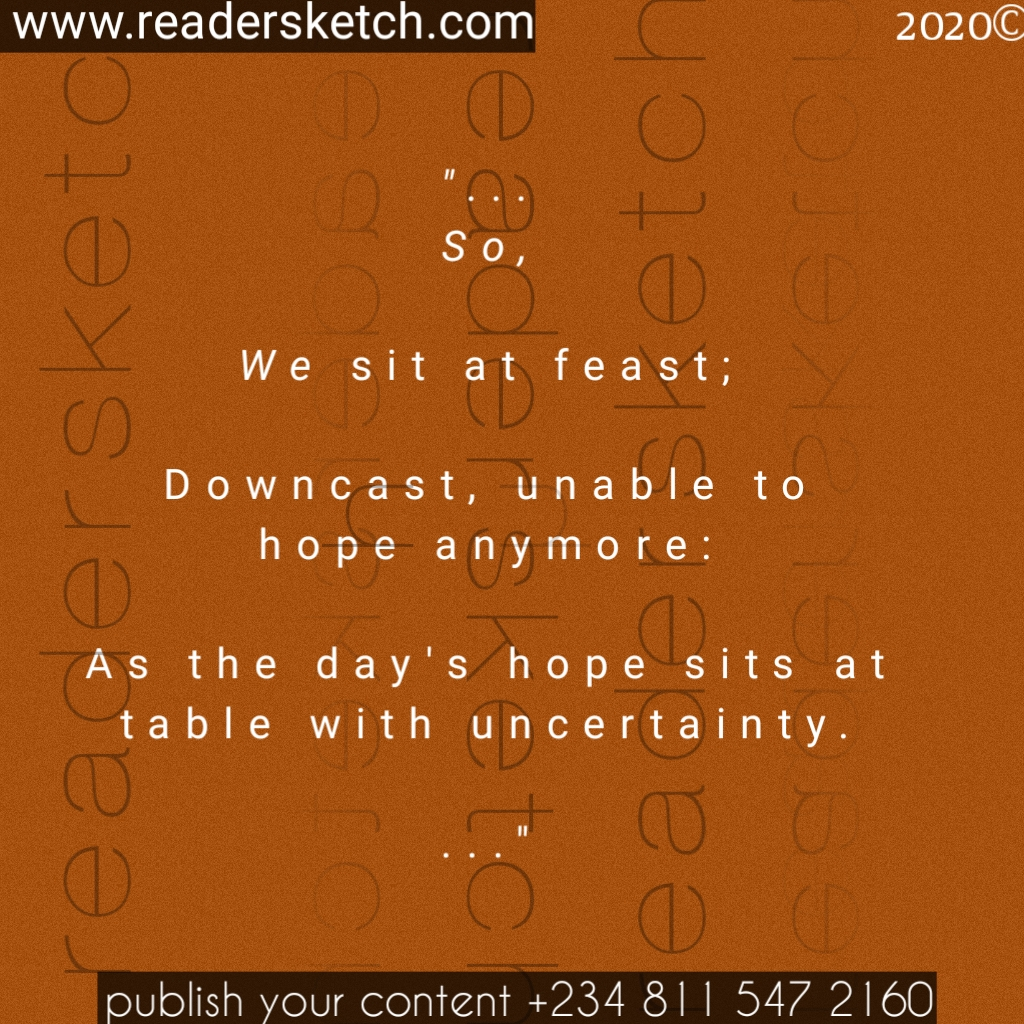 poem, hope, adedamola, writing, prompt, Readersketch, life, sits