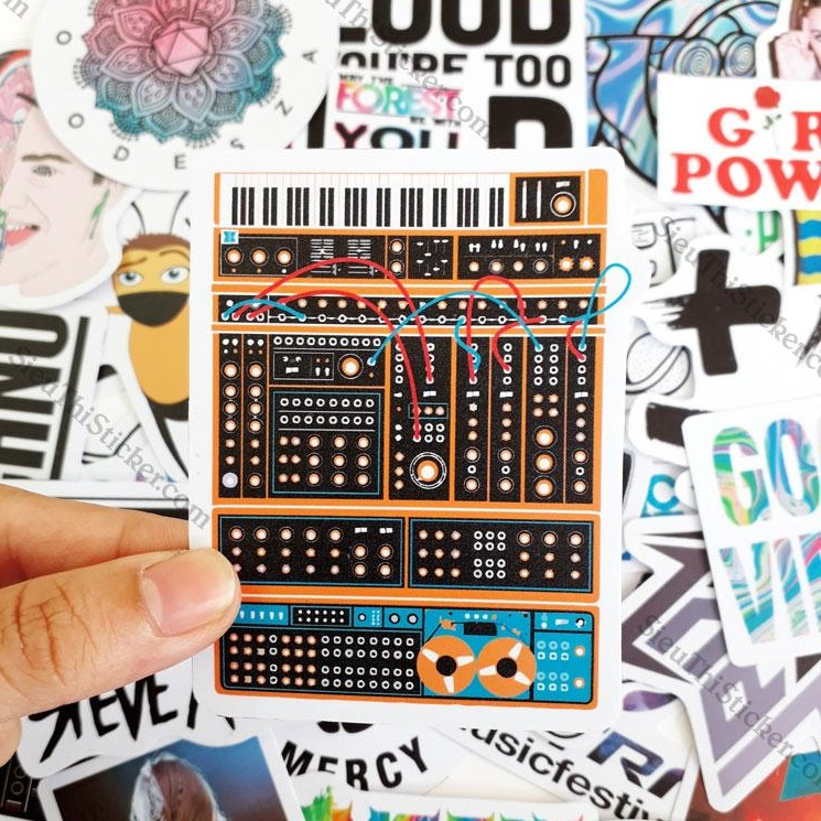 sticker nhạc điện tử