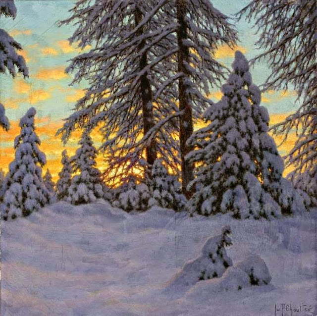 Ivan Fedorovich Choultse - Landscape in Winter