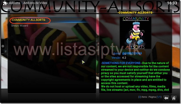 Add–On Community Allsorts – KODI